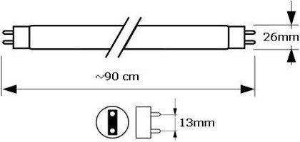 30W (90cm) OSRAM FLUORA